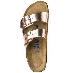 Arizona Natural Leather Soft Footbed Sandals - Narrow