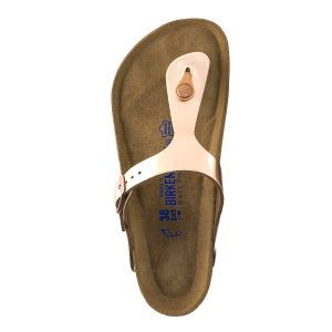 Gizeh Soft Footbed Natural Leather Sandals - Regular