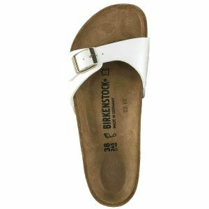 Madrid Birko-Flor Patent Sandals - Narrow