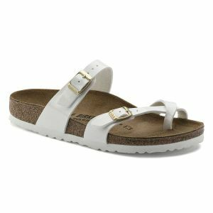 Mayari Birko-Flor Patent Sandals – Narrow