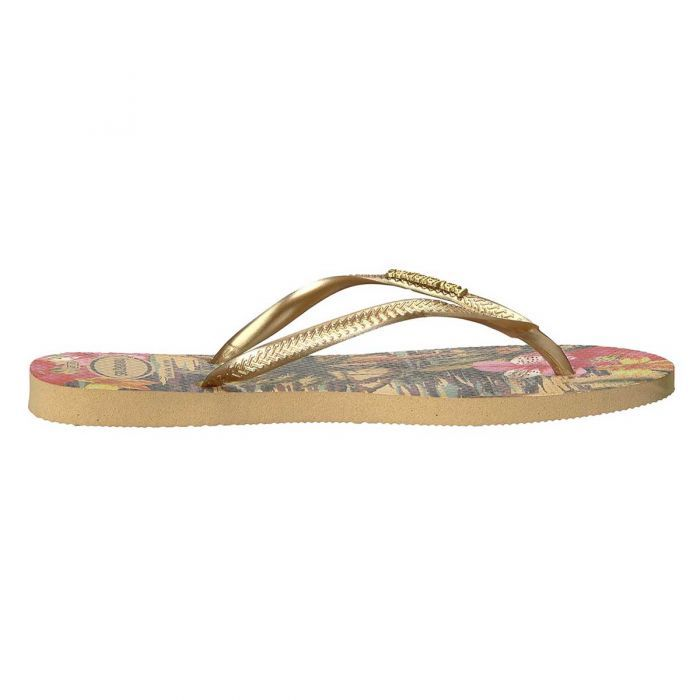 f8df8629df8c9 Shop Havaianas Women s Slim Tropical Thongs - Ivory