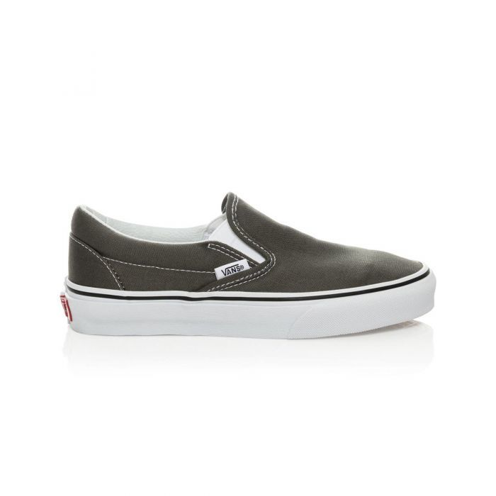 c47ea58656 Shop Vans Classic Slip-On Shoes in Charcoal