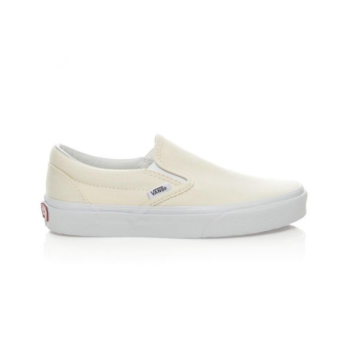0bd0294c24 Shop Vans Classic Slip-On Shoes - White